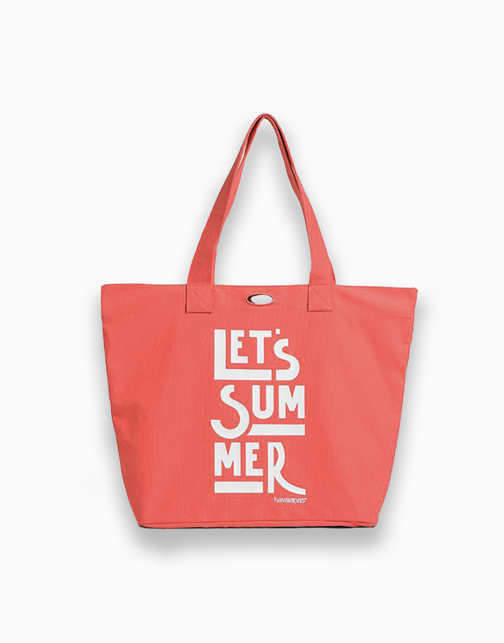Trendy Shopping Bag by Havaianas   Coral New