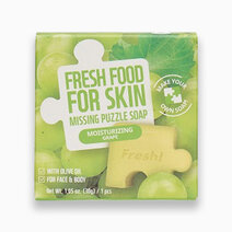 Re fresh food moisturizing grape missing puzzle soap 30g 1