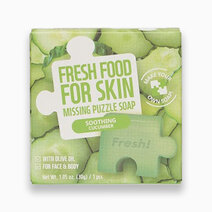 Re fresh food soothing cucumber missing puzzle soap 30g 1