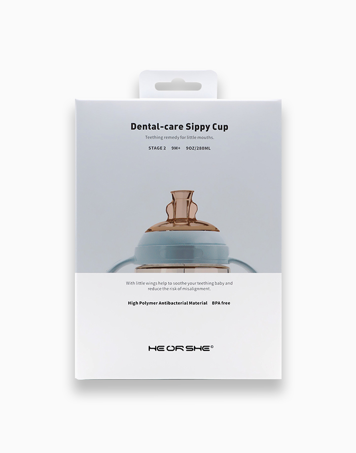 Dental-Care Sippy Cup (Stage 2) For Ages 9 Months & Up by Heorshe   Blue