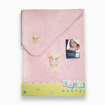 Ms. moo face bath towel doly pink 1