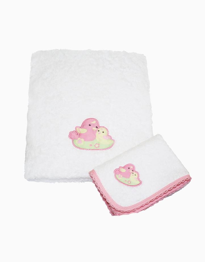 Mama and Baby Bird Face Bath Towel by Baby Martel