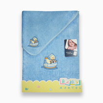 Duck with ship face bath towel baby blue 1