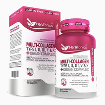 Re multi collagen capsules types i ii iii v x protein peptides organ complex %2890 caps%29