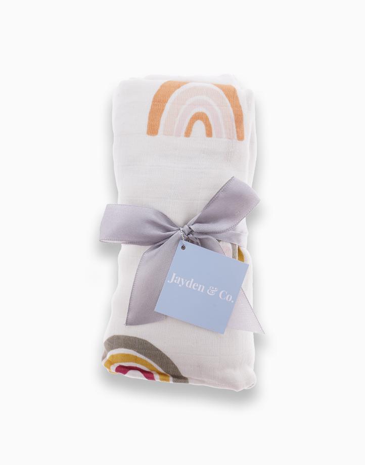Muslin Swaddle Blanket by Jayden & Co. | Pastel Rainbow