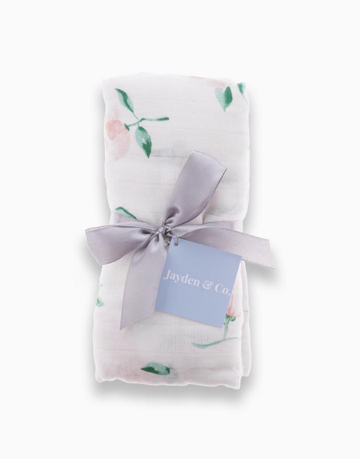 Muslin Swaddle Blanket by Jayden & Co. | Pink Floral