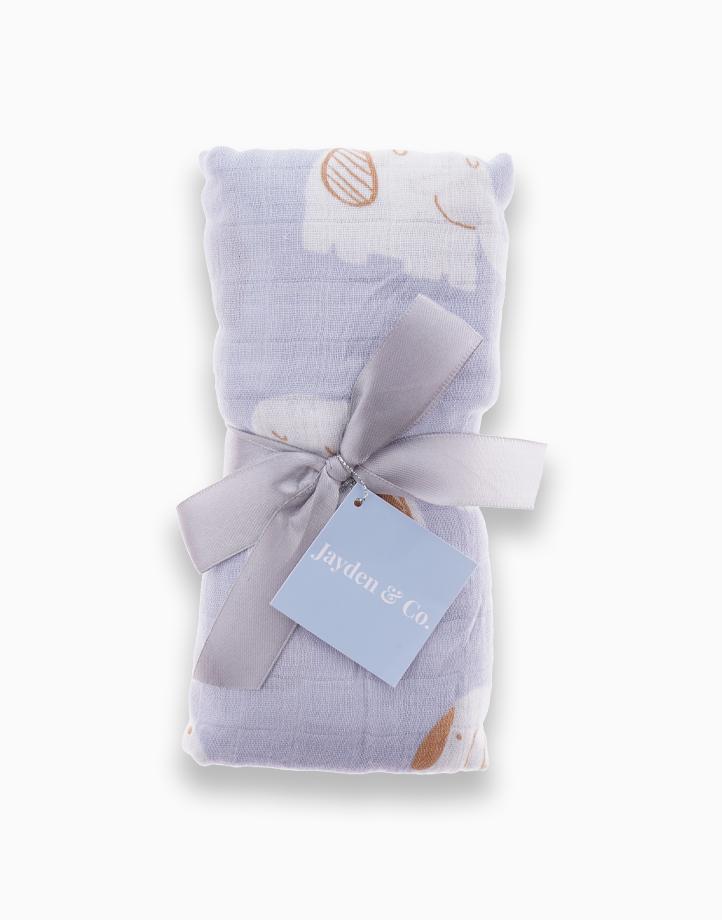 Muslin Swaddle Blanket by Jayden & Co. | Blue Elephant