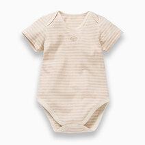 Baby onesie brown stripes