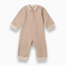 Baby sleepsuit sandy brown