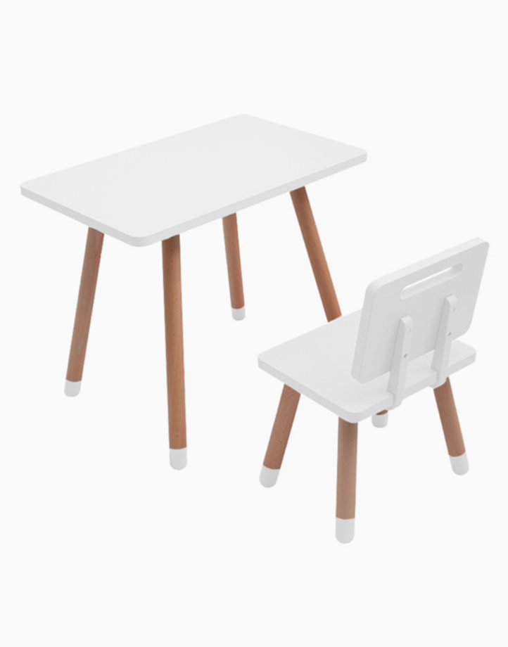 Study Desk and Chair by Kiddi Company | Clean White