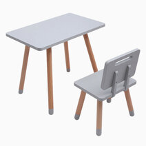 Kiddi study desk and chair in storm gray