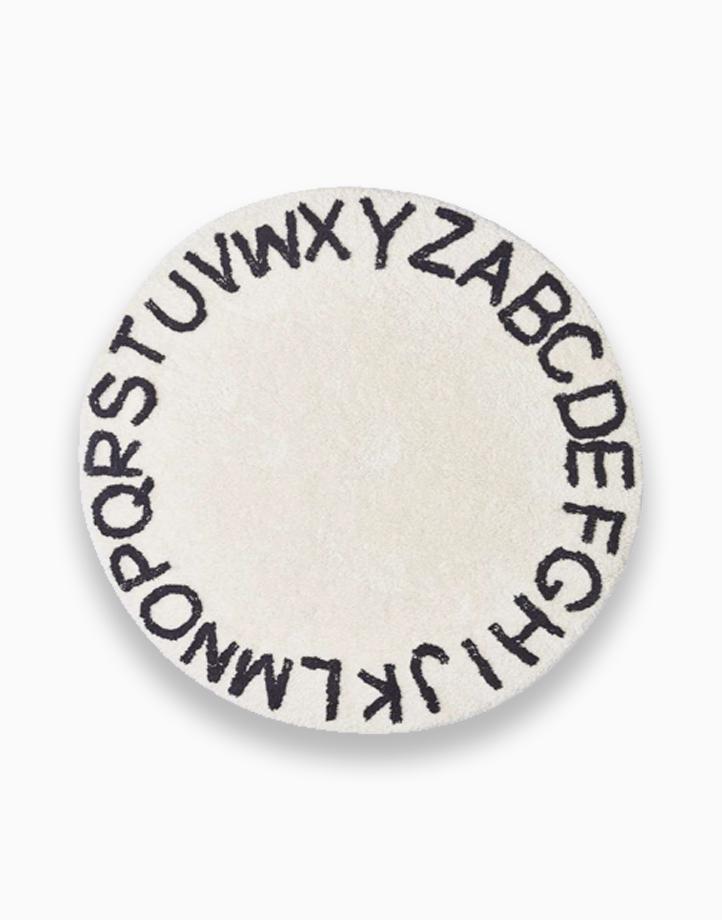 Alphabet Rug by Kiddi Company | White