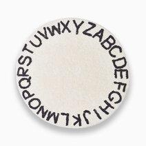 Kiddi alphabet rug in white