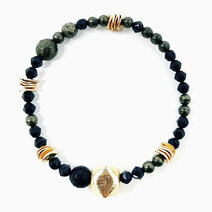 Re abundant achiever bracelet with black spinel and pyrite 1