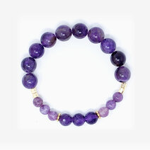 Re my intuitive ally bracelet with amethyst and lepidolite 1