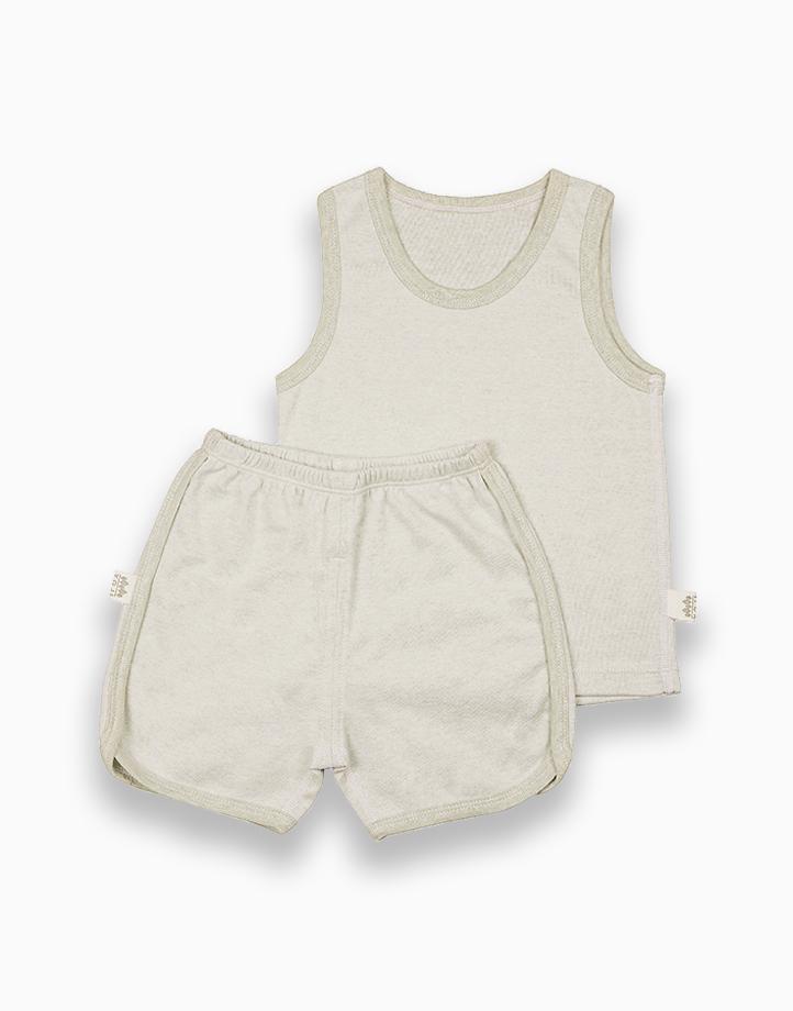 Sando and Shorts Bundle (Green) by YOJI WEAR   Size 90
