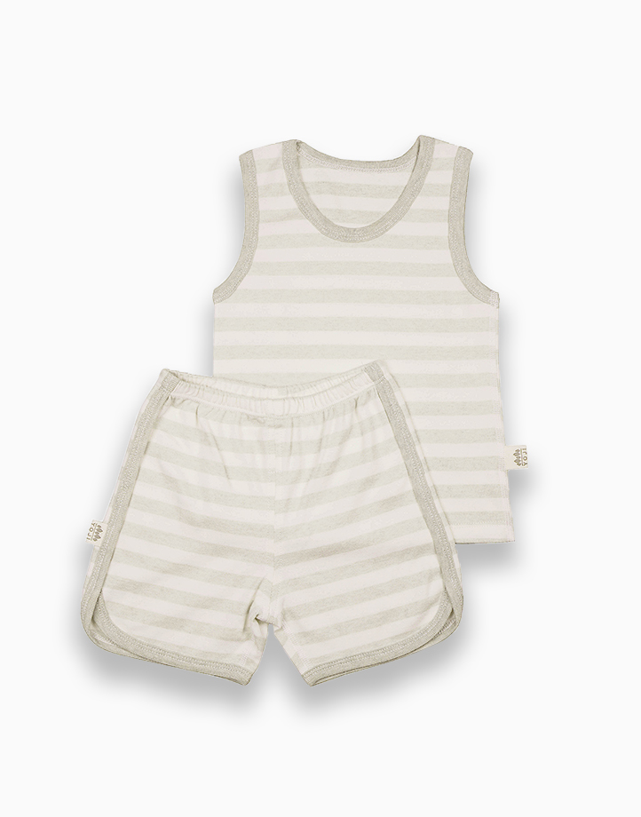 Sando and Shorts Bundle (Green) by YOJI WEAR   Size 100
