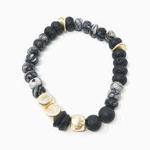 Re creative endurance bracelet with picasso marble agate and lava diffuser stone 2