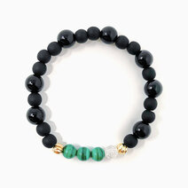 Re empowered path bracelet with malachite black onyx and clear quartz 1