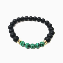 Re empowered path bracelet with malachite and black onyx 1