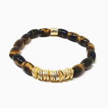 Re live the dream bracelet with tiger eye barrel crystals jewels of the nile %28unisex%29 1