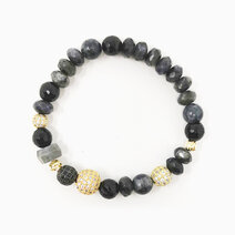 Re magic and protection bracelet with black labradorite black tourmaline and larkavite %28for women%29 2