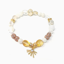 Re radiance bracelet with citrine  mother of pearl and radiant charm %28for women%29