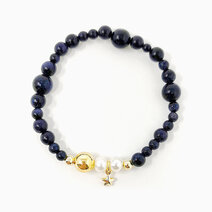 Re reach for the stars bracelet with blue sandstone  freshwater pearl and star charm %28for women%29  2