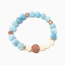 Re tranquility and truth bracelet with aquamarine and mother of pearl %28for women%29  1