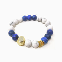 Re true wisdom bracelet with lapiz lazuli and howlite jewels of the nile %28for men%29 2