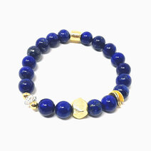 Re true wisdom bracelet with lapiz lazuli and clear quartz jewels of the nile %28unisex%29 2