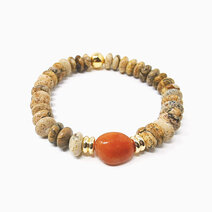 Re vitality bracelet with picture jasper and red aventurine %28unisex%29 1