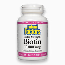 Biotin 10,000mcg (60 Vegetarian Caps) by Natural Factors