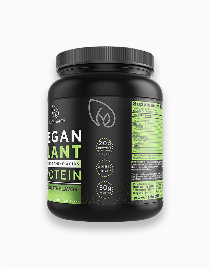 Vegan Plant Protein 30g (454g jar) by Herbs of the Earth
