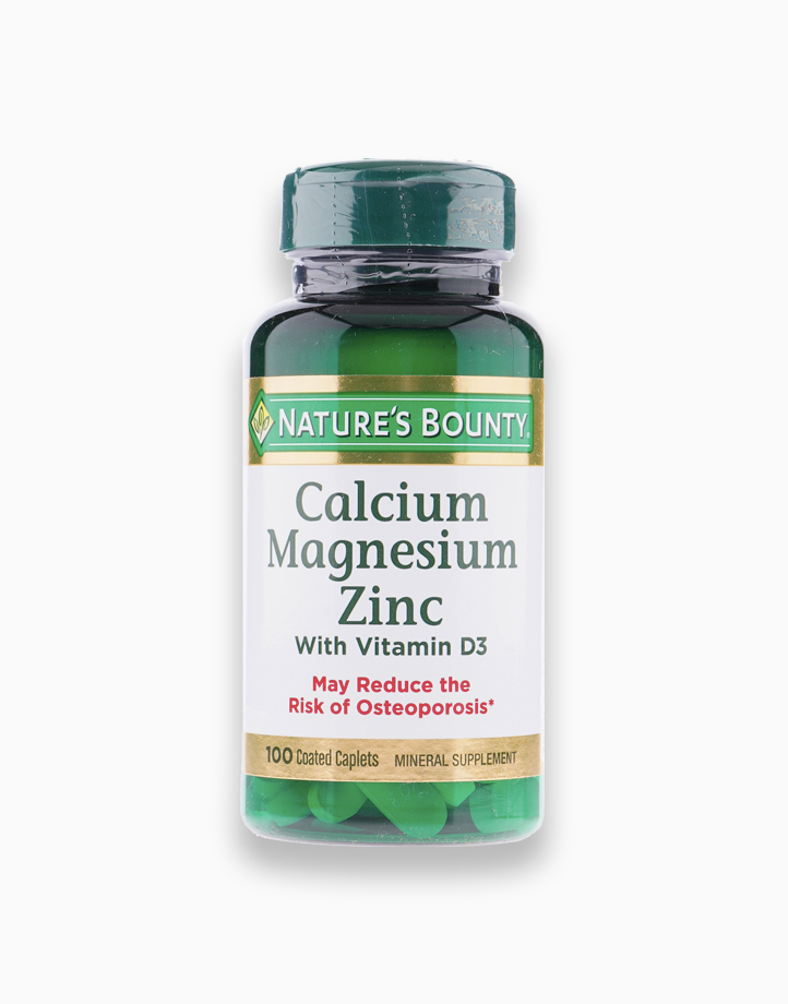 Calcium Magnesium Zinc with Vitamin D3 (100 Coated Caplets) by Nature's Bounty