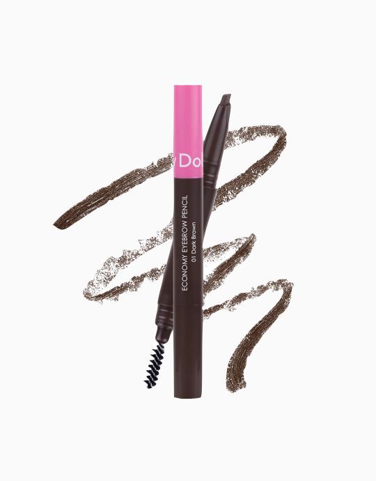 Beauty To Go Economy Eye Brow Pencil by Cathy Doll | #01 Dark Brown