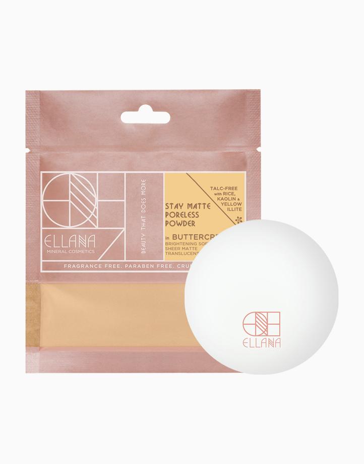 Stay Matte Poreless Powder with Jar by Ellana Mineral Cosmetics | Buttercream