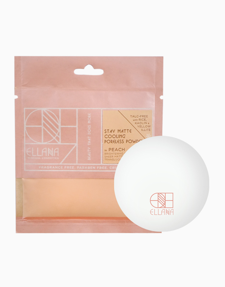 Stay Matte Poreless Powder with Jar by Ellana Mineral Cosmetics | Cooling (Peach)