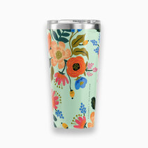 Corkcicle 16oz tumbler   rifle paper co. collection mint lively floral