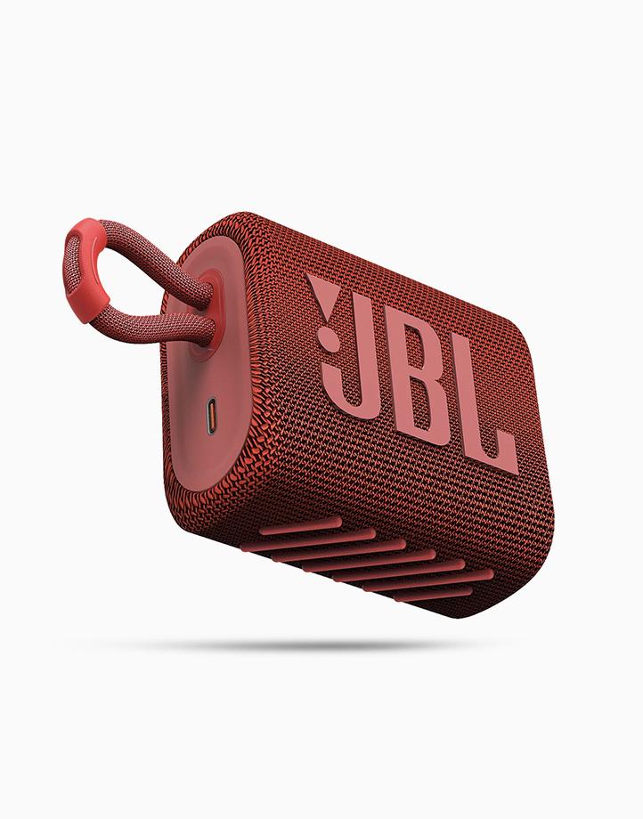 Go 3 Portable Waterproof Speaker by JBL | Red