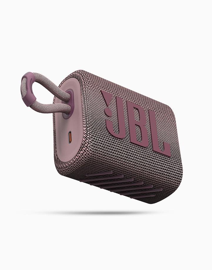 Go 3 Portable Waterproof Speaker by JBL | Pink