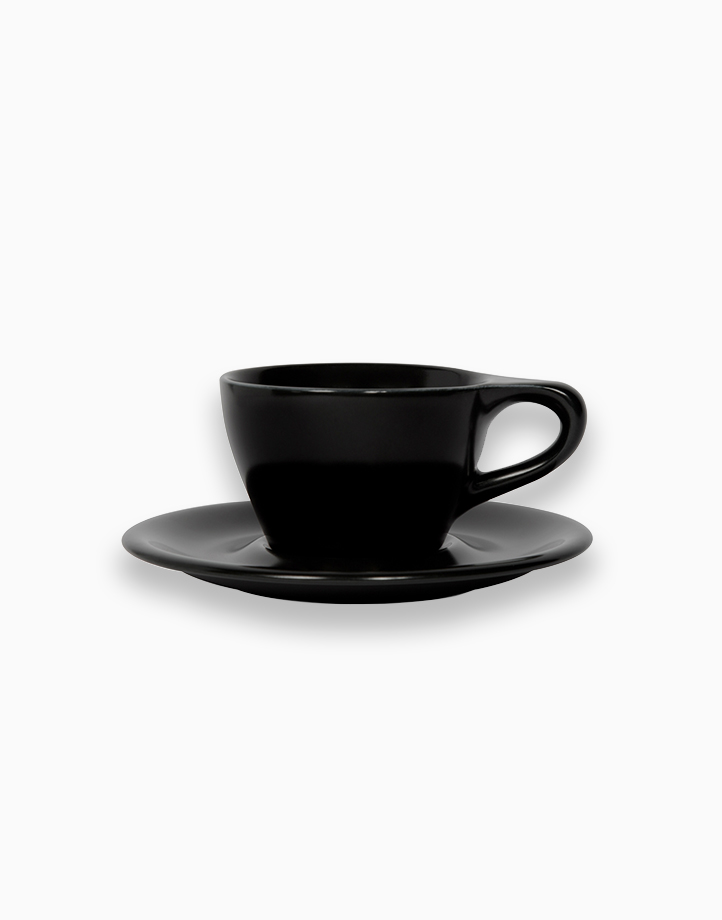 Lino Coffee Cups 6 oz. Double Cappuccino by notNeutral   Black
