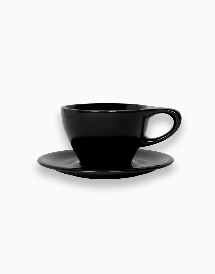 Lino Coffee Cups 8 oz. Small Latte by notNeutral   Black