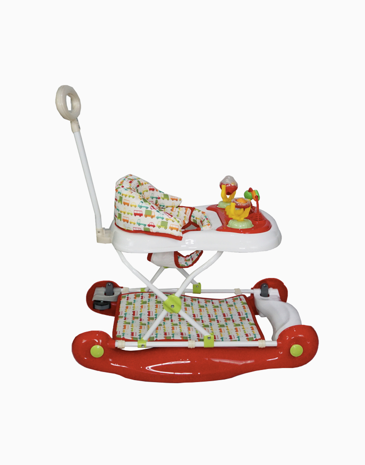 Rock/Bounce Walker with Handle by Akeeva   Red