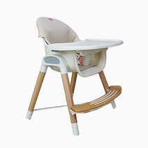 Akeeva wood high chair wood 1