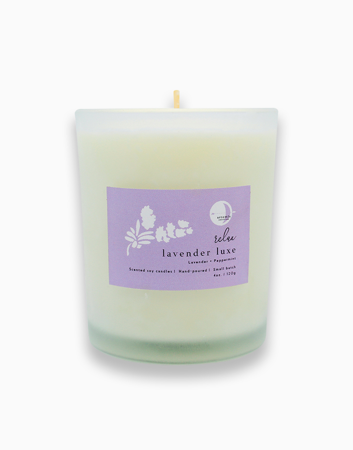 Lavender and Peppermint Luxury Candle (120g) by Artemis Luxe