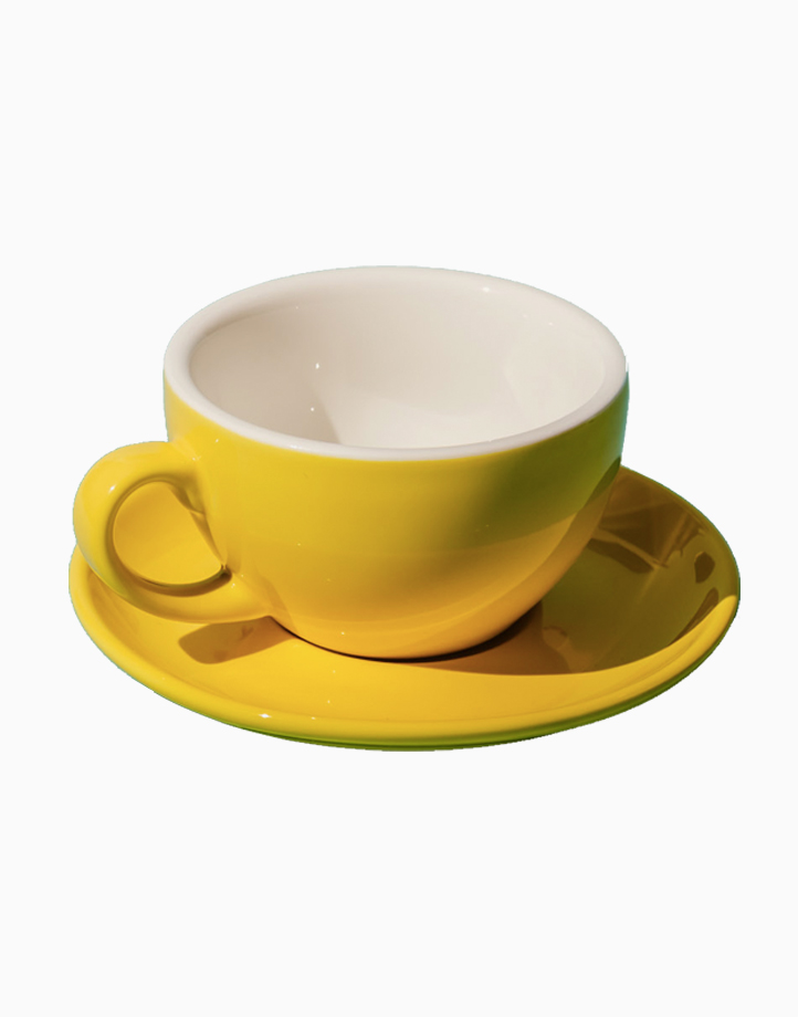 Egg Coffee/Tea Cup & Saucer 220ml by Orion. | Yellow
