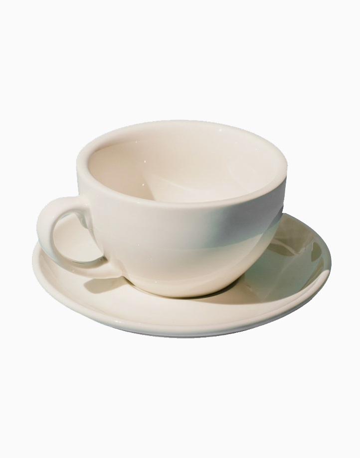 Egg Coffee/Tea Cup & Saucer 220ml by Orion. | White