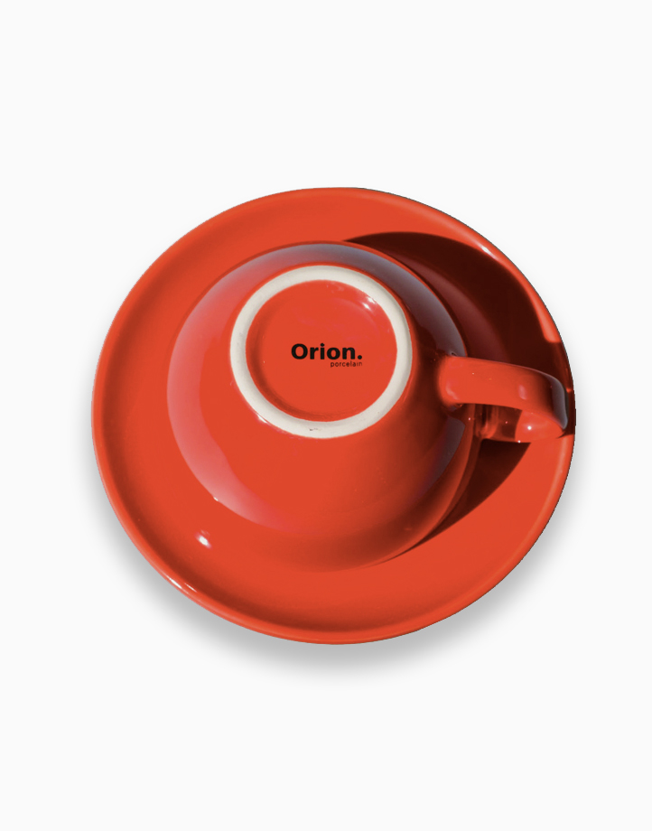Egg Coffee/Tea Cup & Saucer 220ml by Orion. | Red