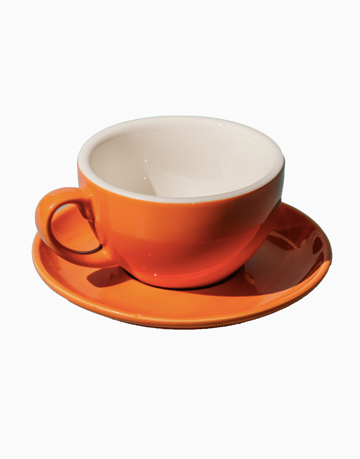 Egg Coffee/Tea Cup & Saucer 220ml by Orion. | Orange